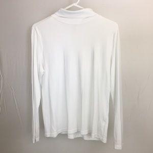 L.L. Bean Large/R White Long Sleeve Turtleneck